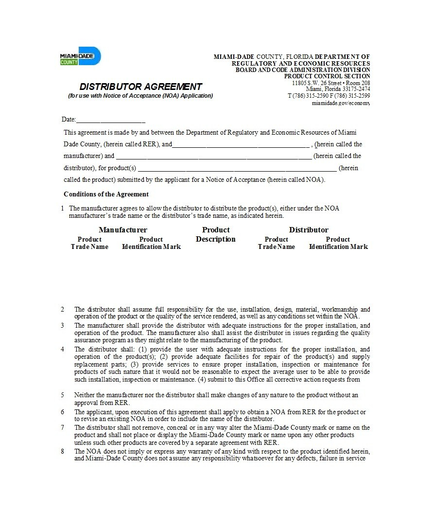 Best Free Distribution Agreement Templates ᐅ Template Lab In Limited Risk Distributor Agreement Template