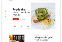 Best Free Simple Website Templates For All Famous Niches for Blank Food Web Template