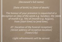 Best Funeral Reception Invitations  Funeral Reception  Funeral throughout Death Anniversary Cards Templates
