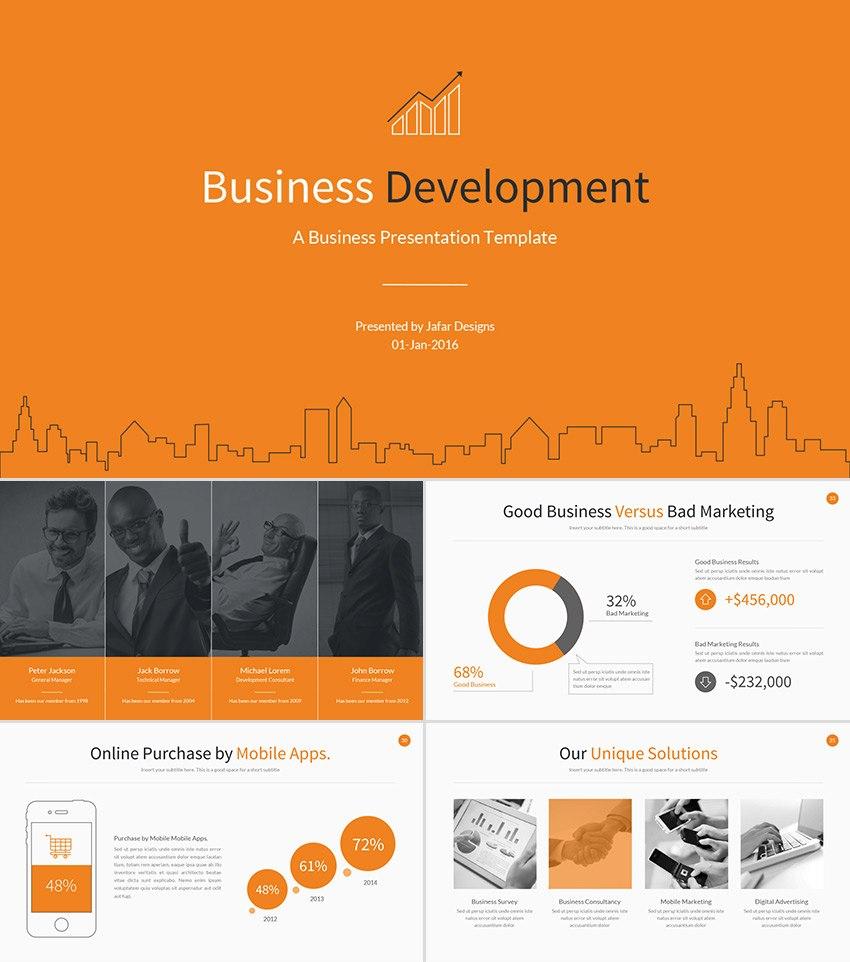 Best Google Slides Presentation Themes Premium Templates To Within Business Development Presentation Template