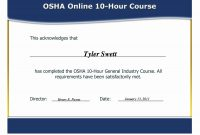Best Ideas For Osha  Certificate Template With Cover  Bizoptimizer pertaining to Osha 10 Card Template