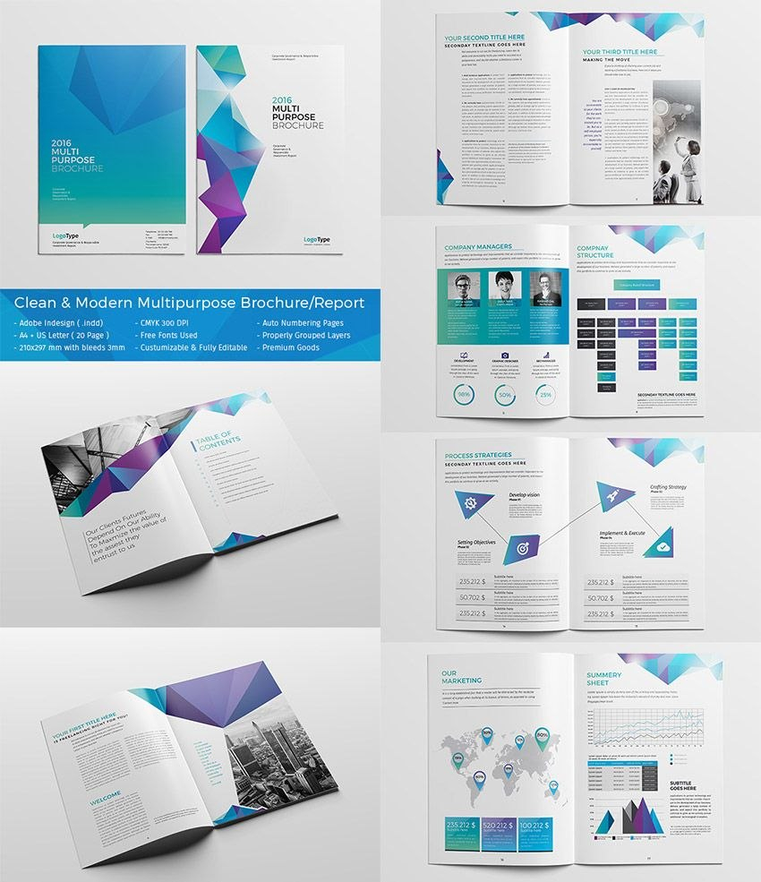 Best Indesign Brochure Templates  Creative Business Marketing Intended For Cleaning Brochure Templates Free