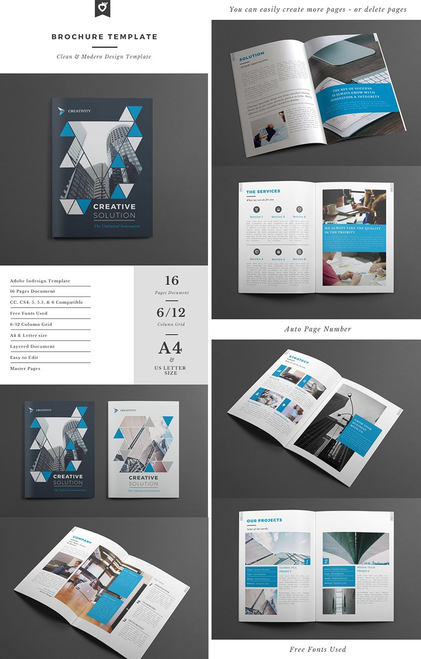 Best Indesign Brochure Templates  Creative Business Marketing Within Cleaning Brochure Templates Free
