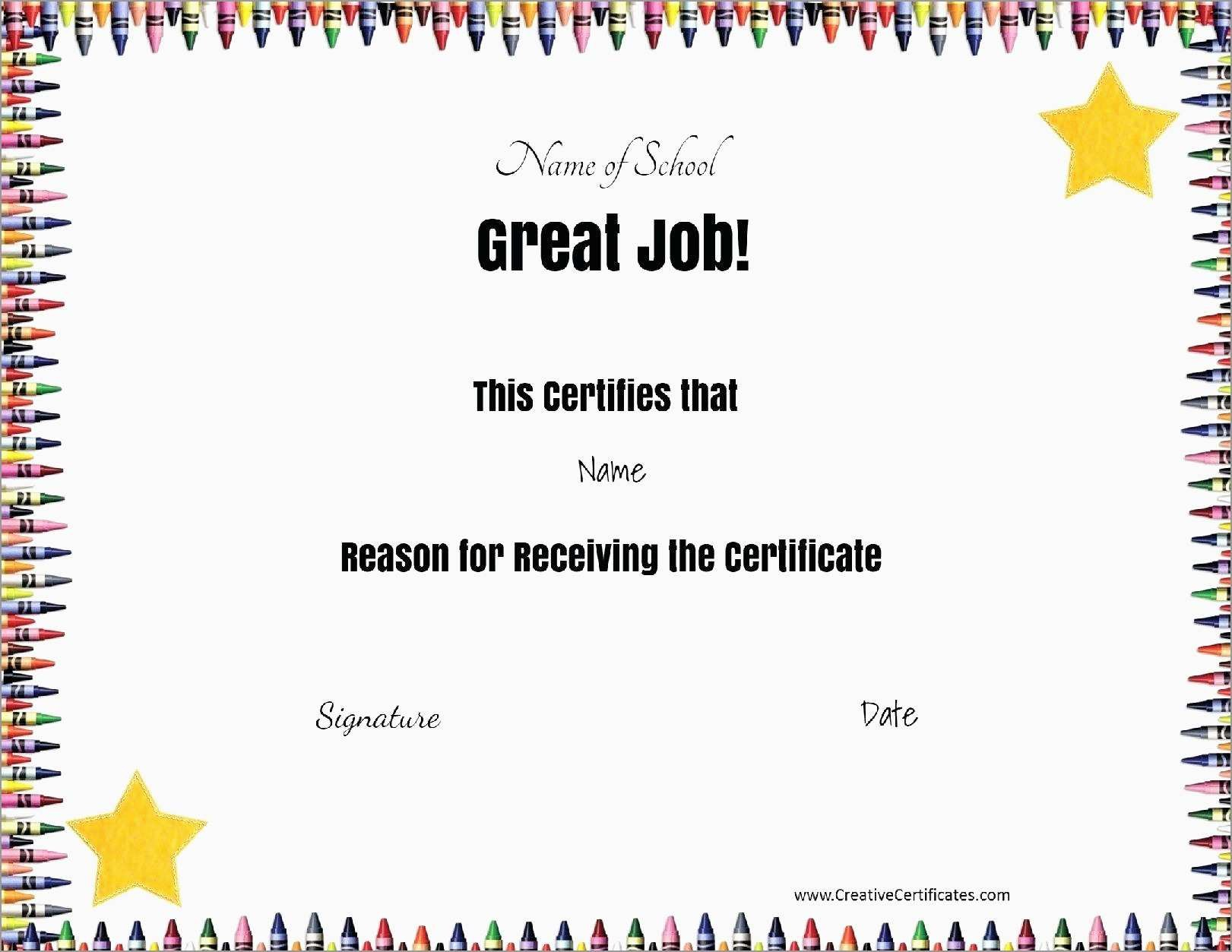 Best Of Years Of Service Certificate Template Free  Best Of Template With Regard To School Certificate Templates Free