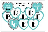 Best Photos Of Bride To Be Banner Template  Diy Bridal Shower with Free Bridal Shower Banner Template