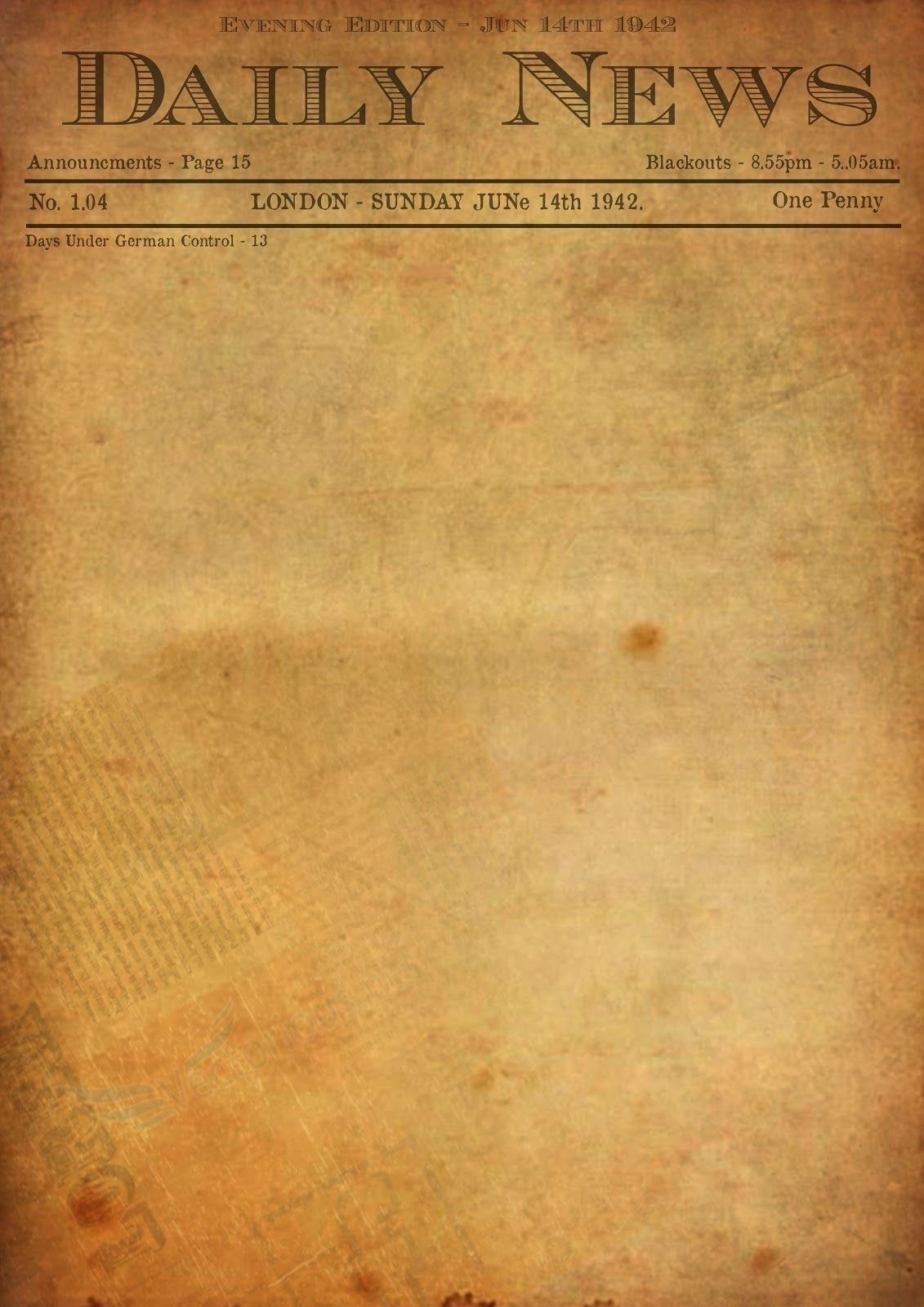 Best Photos Of Old Newspaper Template  Editable Old Newspaper With Regard To Old Blank Newspaper Template