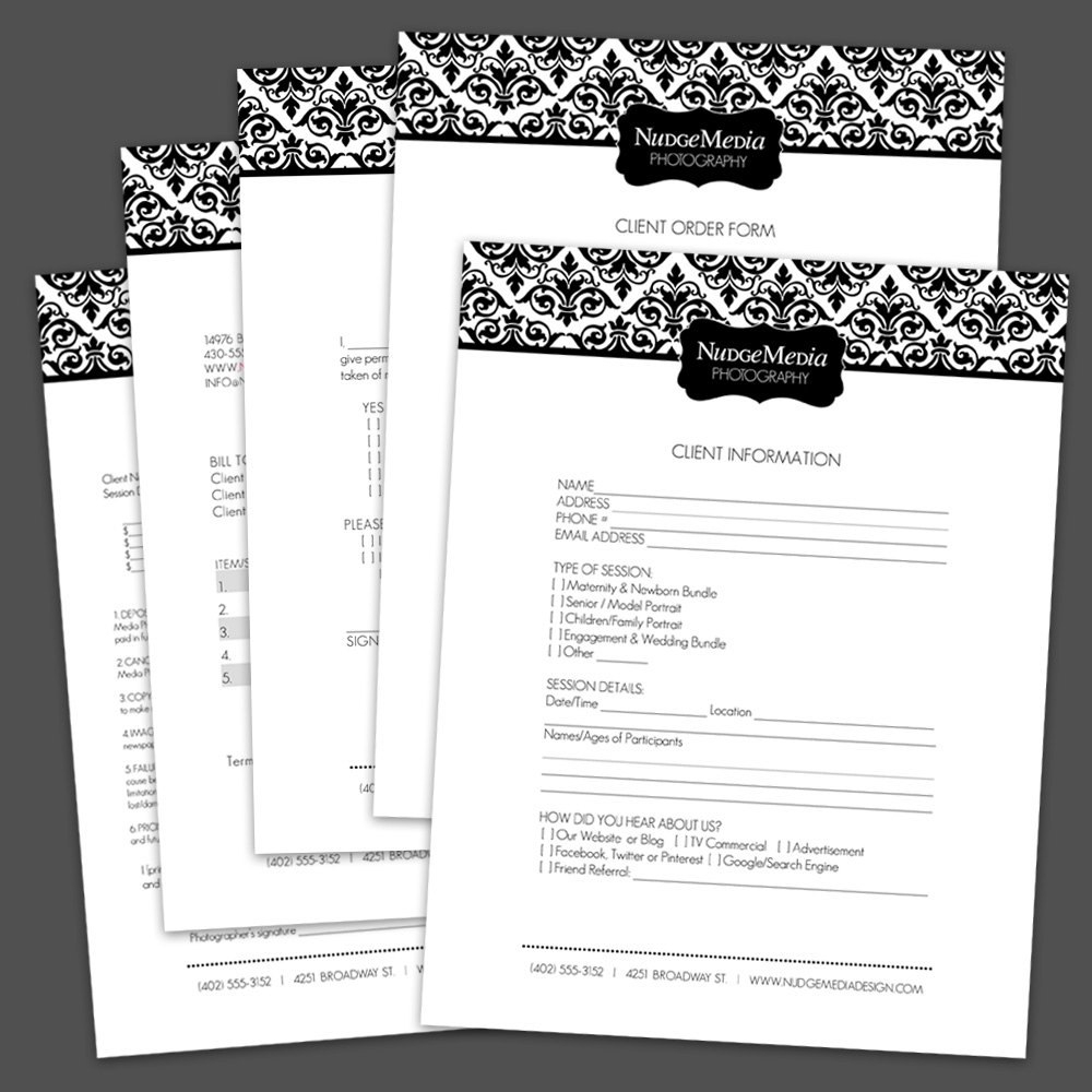 Best Photos Of Photography Business Forms Templates Free  Free Pertaining To Photography Business Forms Templates
