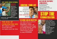 Best Photos Of Student Educational On Hiv Aids Brochure  Brochure with Hiv Aids Brochure Templates