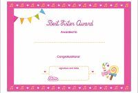 Best Sister Printable Award Certificate – Lottie Dolls In Free Printable Certificate Templates For Kids