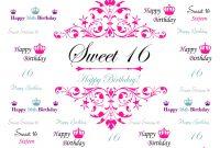 Best  Sixteen Background On Hipwallpaper  Sweet Sixteen for Sweet 16 Banner Template