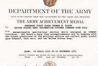 Best Solutions For Certificate Of Achievement Army Template With with Certificate Of Achievement Army Template