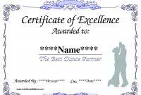 Best Solutions For Dance Award Certificate Template In Example intended for Dance Certificate Template