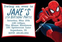 Best  Spiderman Invitation Templates Designs  Invitations within Superhero Birthday Card Template