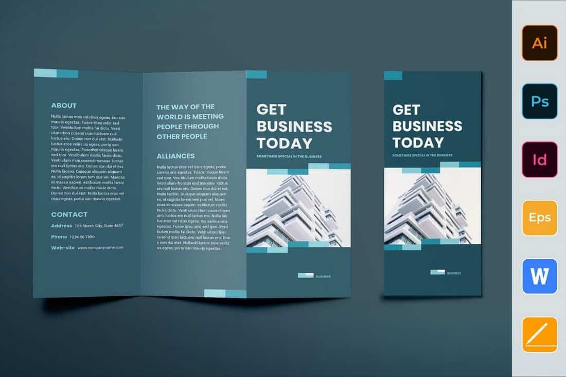 Best Trifold Brochure Templates Word  Indesign  Design Shack In Z Fold Brochure Template Indesign
