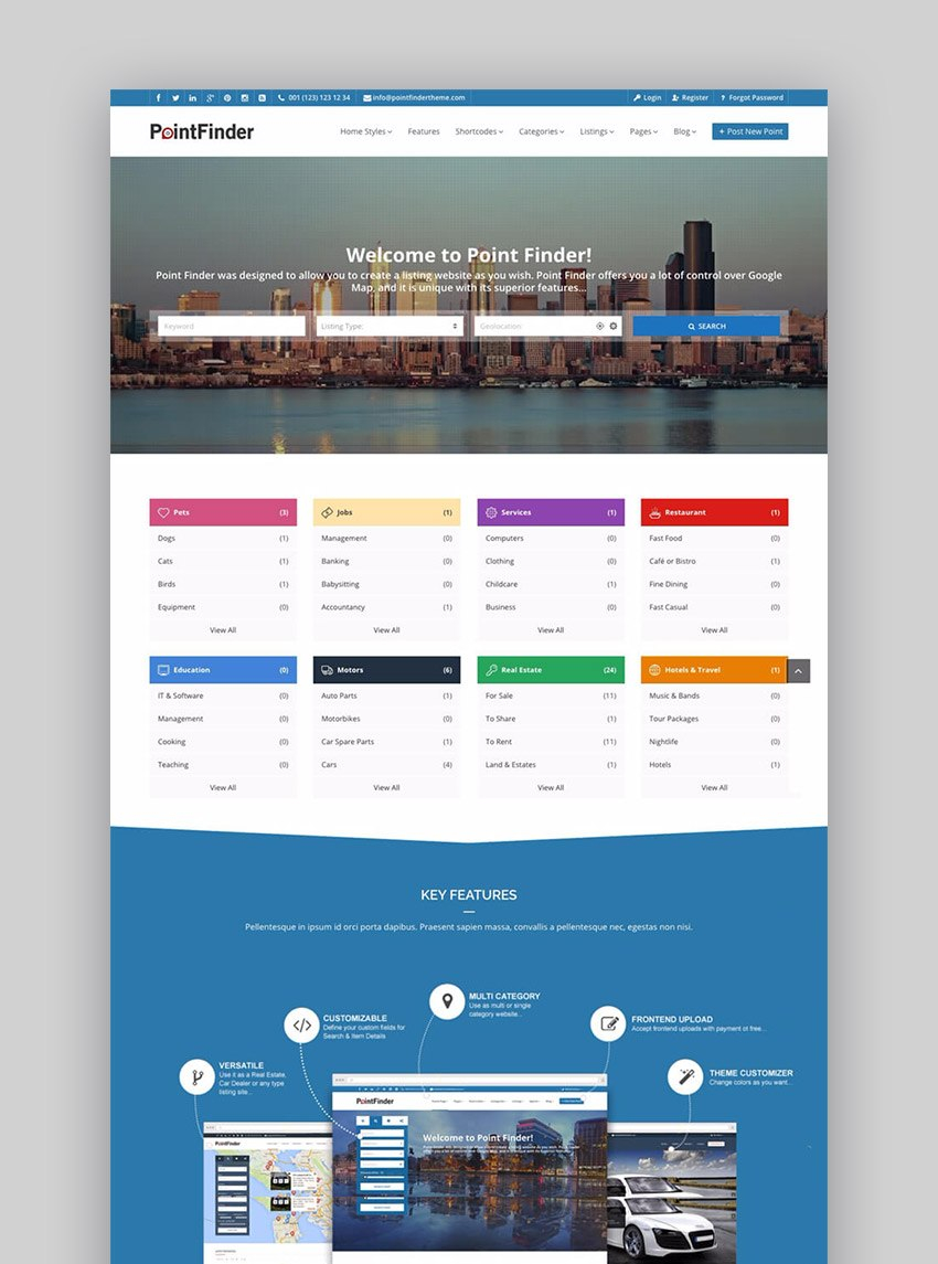 Best WordPress Directory Themes To Make Business Websites Within Business Directory Template Free