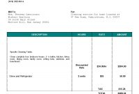 Bhouseb Bcleaningb Bhouseb…  Cleaning Business pertaining to House Cleaning Invoice Template Free
