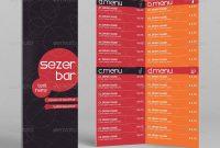Bifold Drink Menu Template Erseldondar  Graphicriver inside Bi Fold Menu Template