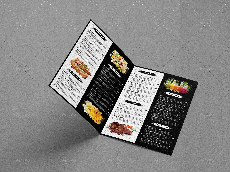 Bifold Food Menu Brochure Templategeelator  Graphicriver With Bi Fold Menu Template