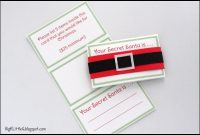 Big K Little G Free Printable Secret Santa Drawing Gift Tags With pertaining to Secret Santa Label Template
