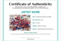 Bill Of Sale Certificate Of Authenticity Agora Gallery with Certificate Of Authenticity Photography Template
