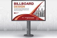 Billboard Banner Template Vector Design Advertisement Realistic intended for Outdoor Banner Template
