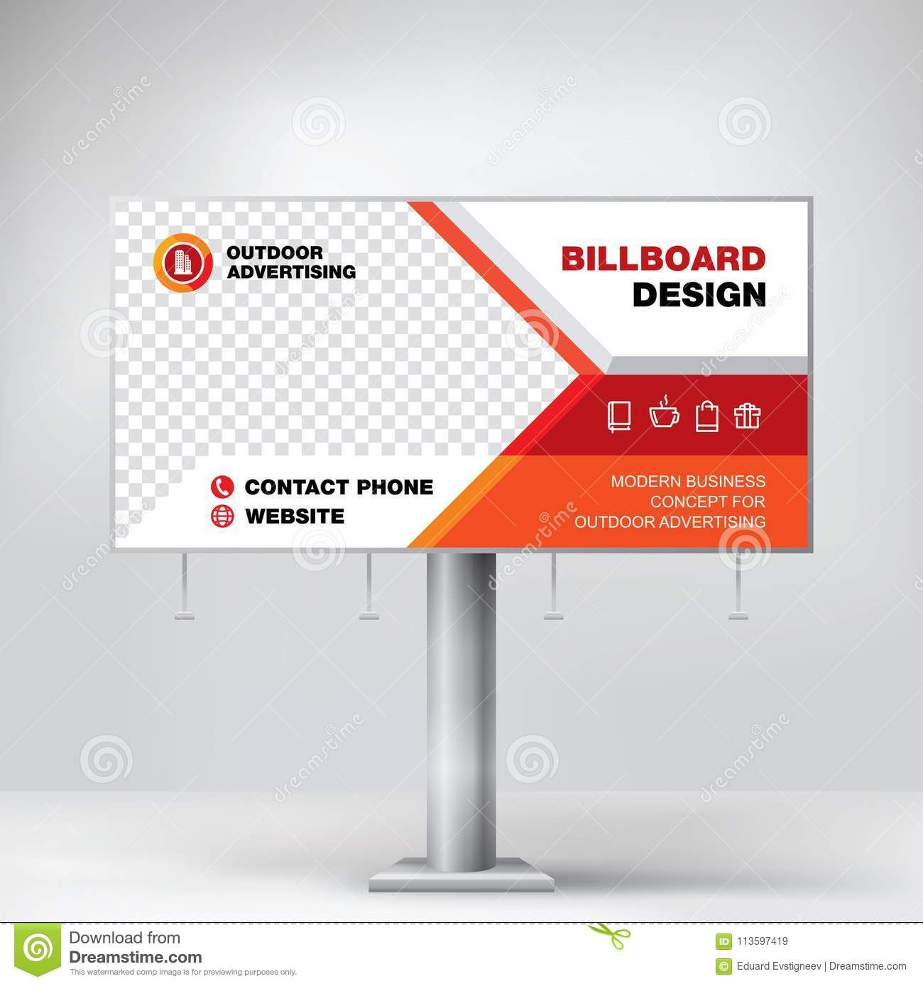 Billboard Design Template Banner For Outdoor Advertising Posting With Regard To Outdoor Banner Design Templates