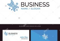 Bio Dna Genetics Technology Blue Business Logo And Business Card in Bio Card Template