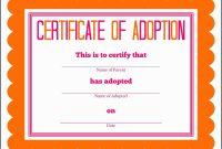 Birth Certificate Downtown Awful Toy Adoption Certificate Template regarding Adoption Certificate Template