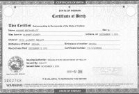Birth Certificate Sacramento Unsubdivided  Birth Certificate with regard to Editable Birth Certificate Template