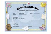 Birth Certificate Templates  Bookletemplate regarding Birth Certificate Templates For Word