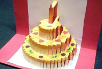 Birthday Cake Pop Up Card Happy Birthday Kirigami  Free Template for Happy Birthday Pop Up Card Free Template