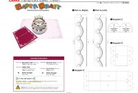 Birthday Cake Popup Card Template  Cards  Pop Up Card Templates within Free Printable Pop Up Card Templates
