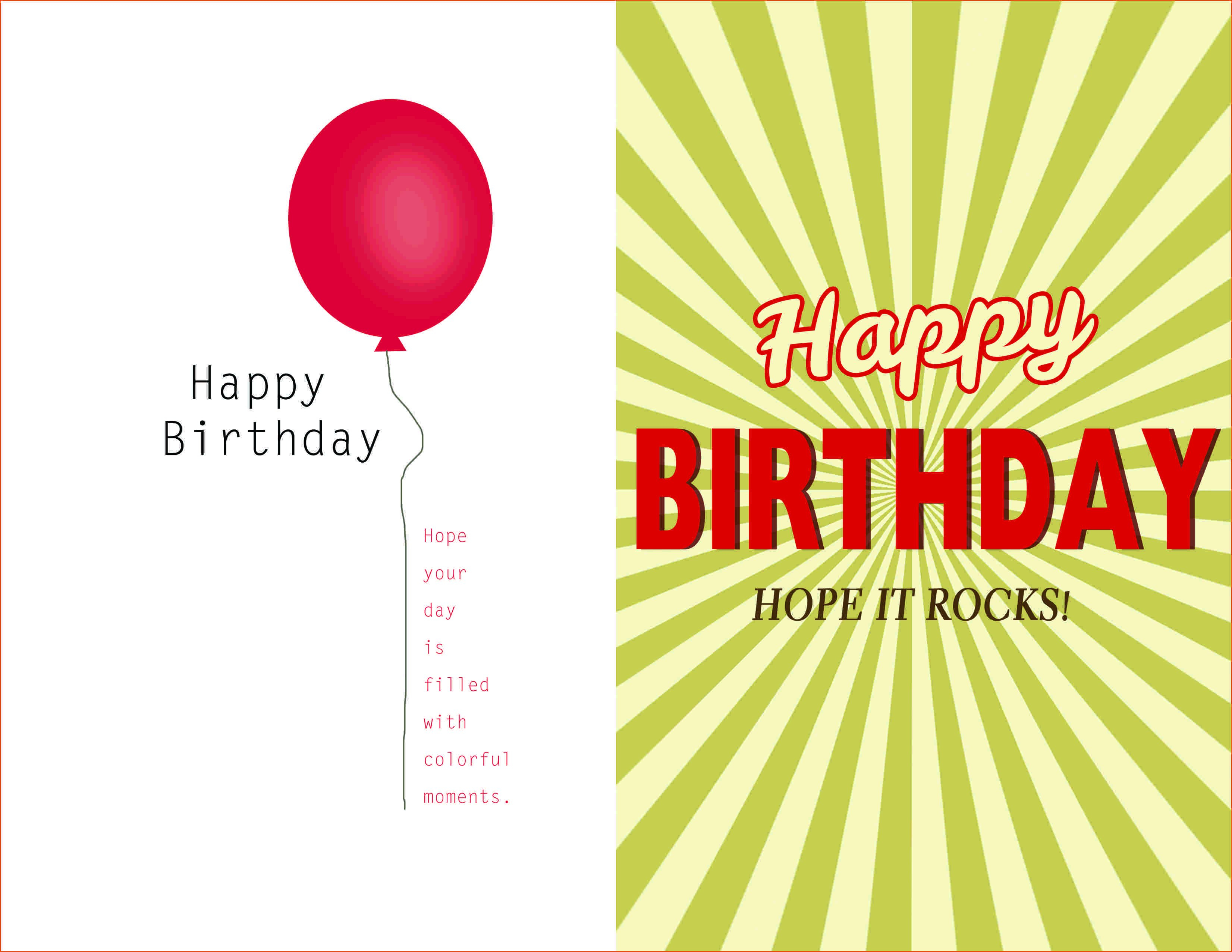 Birthday Card Template Word Document  Blank Microsoft Text Within Birthday Card Template Microsoft Word