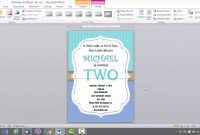 Birthday Invitation Template For Ms Word  Youtube in Microsoft Word Birthday Card Template