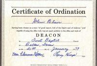 Bishop Ordination Certificate Template intended for Certificate Of Ordination Template