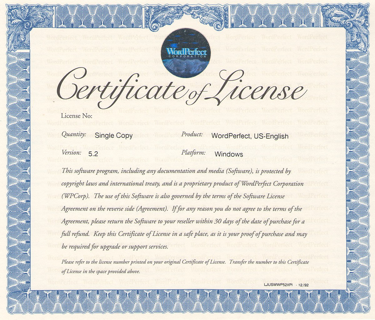 Bizoptimizer  Best Template Sample With Certificate Of License Template