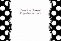 Black And White Polka Dot Border  Prek Polka Dots  Border with Free Label Border Templates