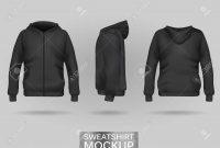 Black Sweatshirt Hoodie Template In Three Dimensions Front Stock regarding Blank Black Hoodie Template