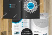 Black Technical Brochure Template Design Cogwheel Stock Vector for Technical Brochure Template