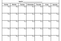 Blank Activity Calendar Template Images  Printable Blank with Blank Activity Calendar Template