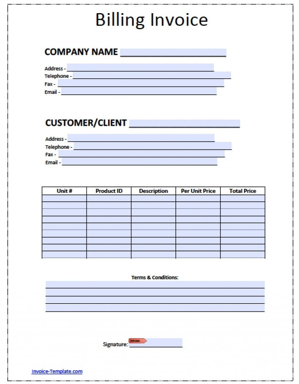 Blank Bill Template Ee Printable Invoice Templates Excel Utility Uk Regarding Free Bill Invoice Template Printable