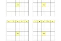 Blank Bingo Cards  Fill Online Printable Fillable Blank  Pdffiller inside Blank Bingo Template Pdf