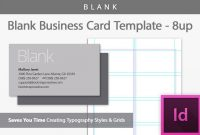 Blank Business Card Indesign Template regarding Indesign Birthday Card Template