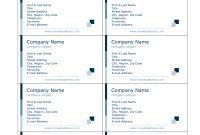 Blank Business Card Template Word Astounding Ideas Mac pertaining to Business Card Template For Word 2007