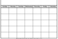 Blank Calendar  Beta Calendars within Blank Calender Template