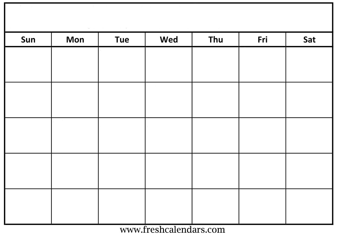 Blank Calendar Wonderfully Printable  Templates In Full Page Blank Calendar Template