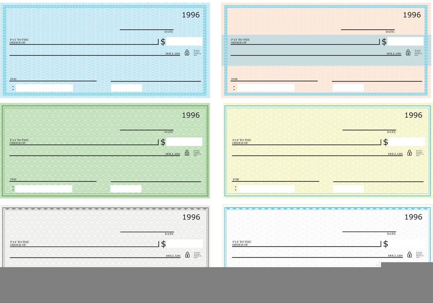 Blank Check Templates Doc Psd Pdf  Ready To Use In Fun Blank Cheque Template