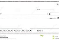 Blank Check With False Numbers Stock Photo  Image Of Payment with regard to Large Blank Cheque Template