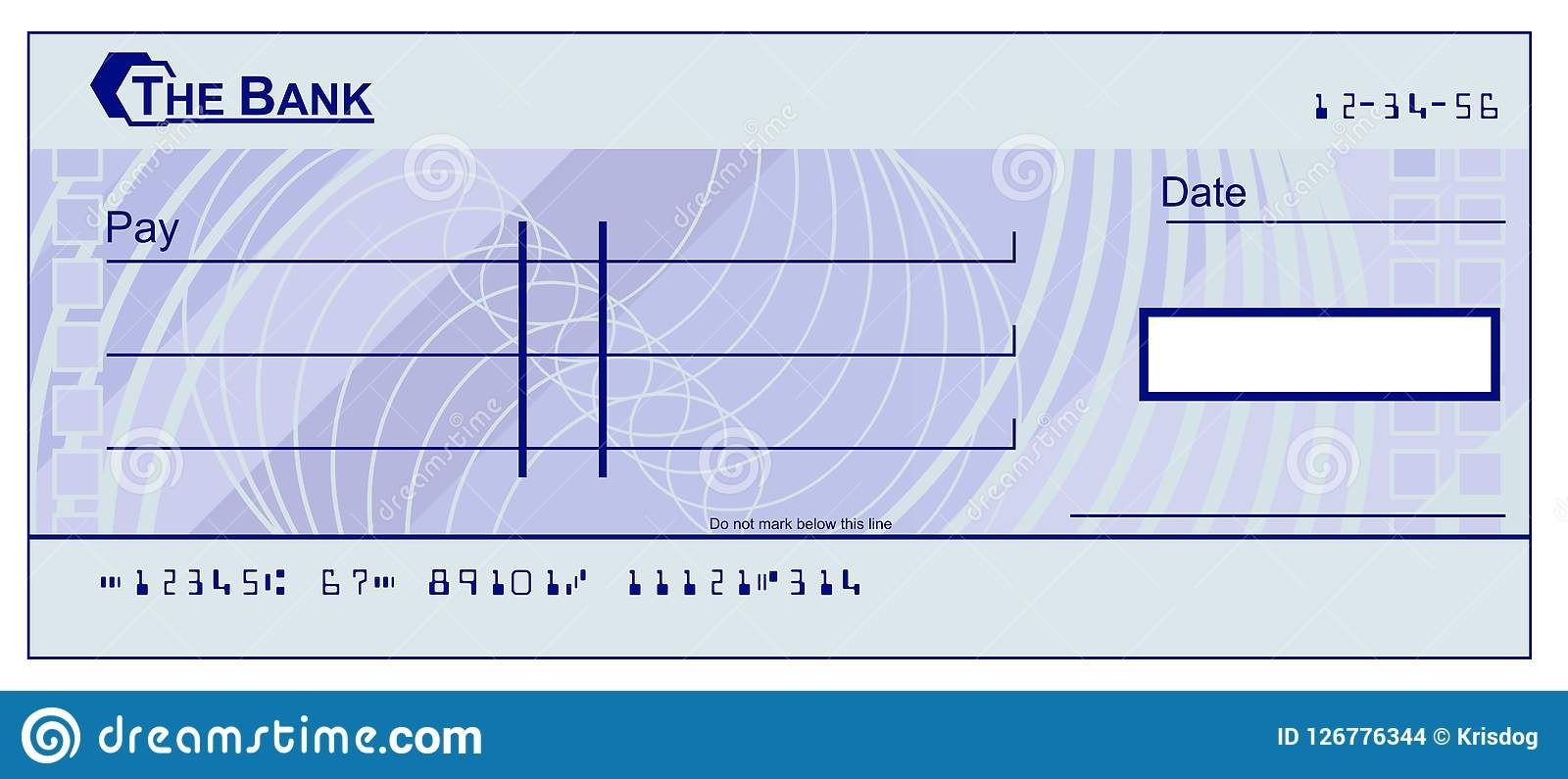 Blank Cheque Stock Illustrations –  Blank Cheque Stock For Blank Cheque Template Download Free