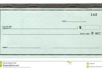 Blank Cheque Stock Image Image Of Paper Finance Nobody with regard to Large Blank Cheque Template